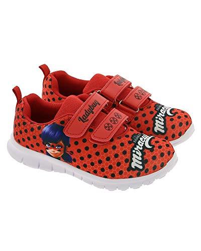 Ladybug Miraculous - Zapatillas deportivas, Rojo...