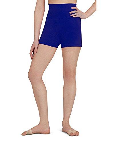 Capezio Women's Team Basic High Waisted Short, Royal Blue, Medium