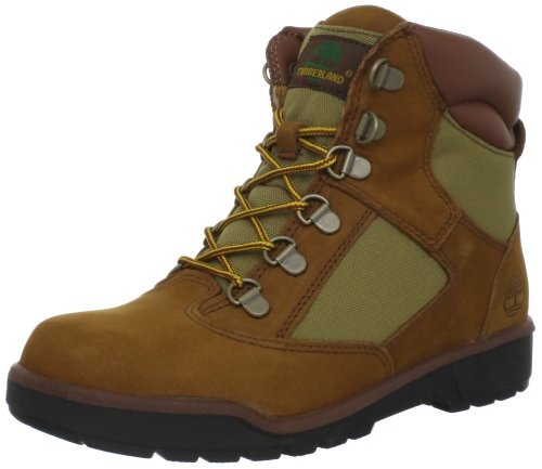 Timberland 6-inch Leather and Fabric Field Boot (Toddler/Little Kid/Big Kid),Sundance,13.5 M US Little Kid