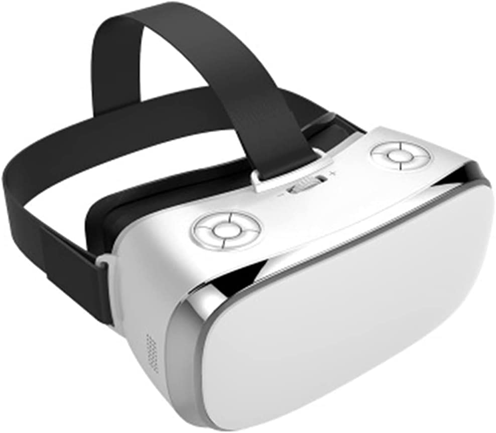 3D VR Headset, 3D VR Glasses Virtual Reality Box VR Integrated Machine 2K HD WIFI 3D Smart Glasses 16G All in One VR Glasses with Adjustable Lens And Comfortable Strap for 3D Movies And Games,White