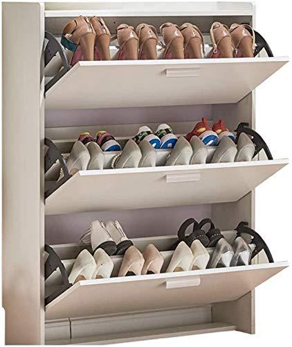 ZouYongKang 3 niveles de madera rústica Entrada de madera Estantes de almacenamiento de zapatos, plataforma organizadora de armario, organizador de zapatos moderno para sala de estar de vestíbulo Alma