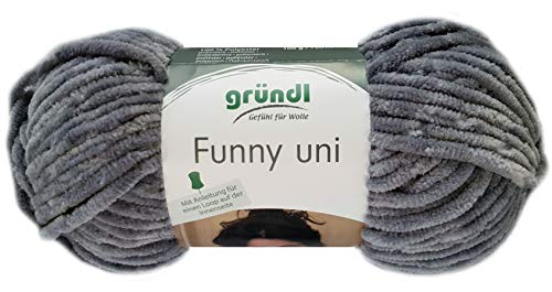 Gründl Funny 100g Softgarn aus 100% Polyester (07 Grau)