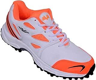 Vijayanti Sports C-15 Orange/White Cricket Shoes for Men