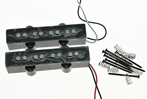 KAISH Black Alnico 5 J Bass Pickups Set 60s Vintage Sound 4 cuerdas Jazz Bass Pickup