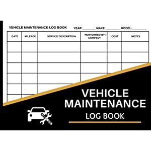 """Car Maintenance Log Book: Vehicle Maintenance Log Book - Repair And Service Record Book for Cars, Trucks & Motorcycles - Small Size 8.25"""" x 6"""""""