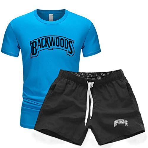 Summer Backwoods Camiseta Unisex De Manga Corta Traje Deportivo Casual Pantalones Cortos De Cinco Puntos + Camiseta Traje Unisex XXL