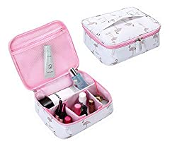 【SUITABLE SIZE】: 24*20*9.9cm/9.4*7.8*3.8inch. Easy to carry 【HIGH QUALITY MATERIAL】: Made of high quality oxford cloth. Portable, Durable, Foldable, Waterproof, easy to clean. Ensure your cosmetics, toiletries and other items safety and organized 【UN...