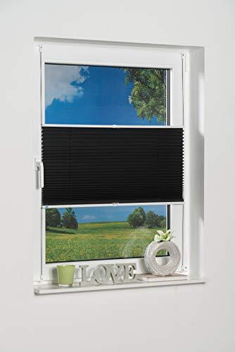 K-home Klemmfix-Plissee 80 x 130 cm (B x L) Anthrazit Lichtschutz +++ Moderne Crushed Optik +++