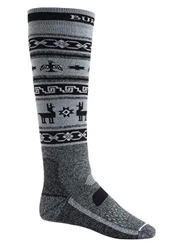 Burton Herren Performance Midweight Snowboard Socken, True Black Heather, L