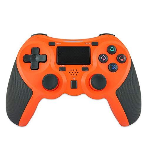 VAWA Contrôleur de Jeu sans Fil-Bluetooth 4.0 Double Chargeur Rapide avec écran LED, Manette de Jeu pour Playstation 4 / PS4 Slim/PS 4 Pro/PC-Orange