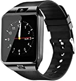 TYMU Smartwatch Bluetooth with Camera Sim Card Supported, Health Fitness Tracker Smart Watch for Mens Boys and Girls
