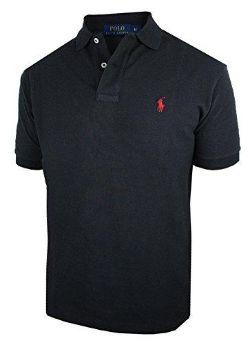 RALPH LAUREN Herren kurzarm Poloshirt Classic Fit C8312 (L, schwarz)