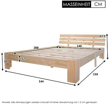 Bois massif avec revêtement en bois FSC 200 x 140 cm