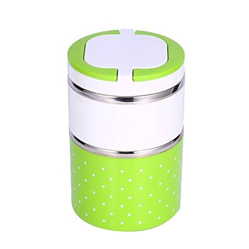 SunshineFace 2 capas de aislamiento de acero inoxidable termo de la caja de almuerzo térmica contenedor de alimentos caliente
