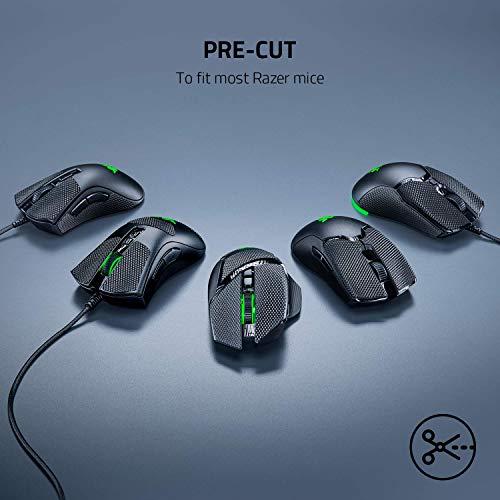 Razer Mouse Grip Tape für Razer DeathAdder V2, DeathAdder Elite + DeathAdder Essential (Rutschfest, Selbstklebend, Vorgeschnitten)