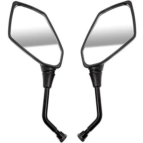 SurePromise Angled Motorcycle Mirrors Universal 10mm Thread Bike Motorbike...