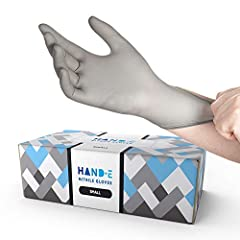 PREMIUM GRADE: These disposable gloves are 3 grams thick, highly stretchable, and won't rip or tear easily. Nitrile gloves are the strongest form of rubber gloves, better than plastic, vinyl or latex. These are ideal for home cooking, professional fo...