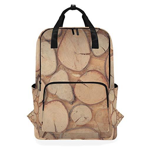 FAJRO Awesome Holzwand-Schulranzen Fashion Rucksack