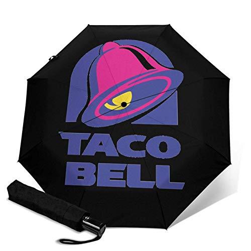 Taco-BellAutomatik Dreifach Faltbarer Regenschirm Sonnenschirm Sonnenschirm