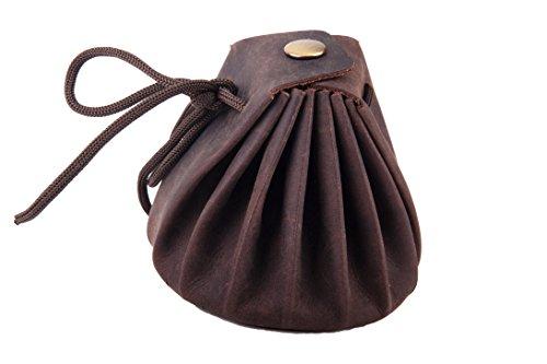 ANDERS Bolsa para el Tabaco, bolsa monedero Medieval de cuero