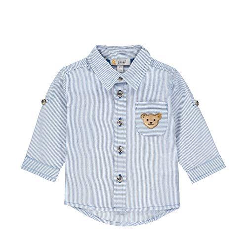 Steiff Jungen Langarm Hemd, Blau (Skydiver 6040), 80 (Herstellergröße: 080)