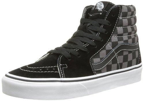 Vans Sk8-Hi, Sneakers Alti Unisex Adulto, Multicolore (Black/Pewter/Checkerboard), 34.5 EU