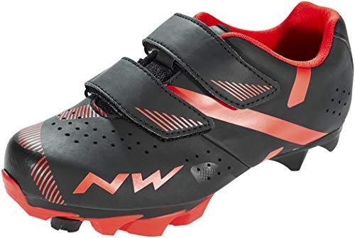 Northwave Zapatos Btt Hammer 2, Scarpe da Ciclismo, Black/Red, 35 EU