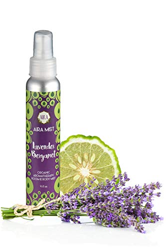 Aira Mist Lavender Bergamot Verbena Organic Room Spray - Essential Oil Spray with Therapeutic Essential Oils - Air Freshener - Living Room Spray & Bathroom Spray Free of Alcohol & Parabens - 4 Ounces
