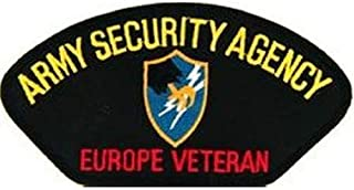 Embroidered Patch - Patches for Women Man - Army Security Agency ASA Europe Veteran Signal Intelligence Semper VIGILIS