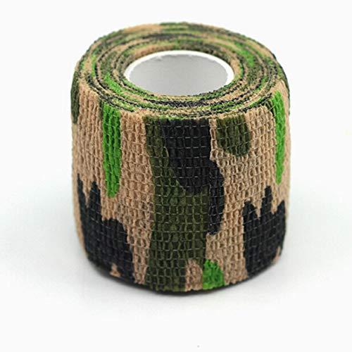 SSFFSJDM Schutzwerkzeug Muskelpflege wasserdicht Sporttherapie Gurtband Sportband Gummiband 4,5 m * 5 cm Tarnung