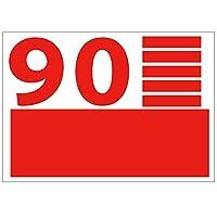 [ABポスター] A4サイズ 切り文字カッティングシート 貼り文字 ガラス文字 装飾文字 アルファベットシール (赤文字:9、0, 10cm・355pt)