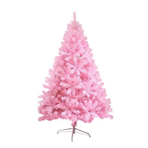 LOKIPA - Albero di Natale artificiale con supporto in metallo, 1,8 m, colore: Rosa