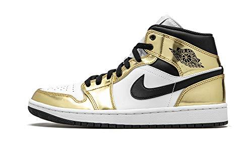 Jordan Hombres Air 1 Mid Se Metallic Gold Dc1419 700 Talla, (Oro metálico/negro-blanco.), 45 EU
