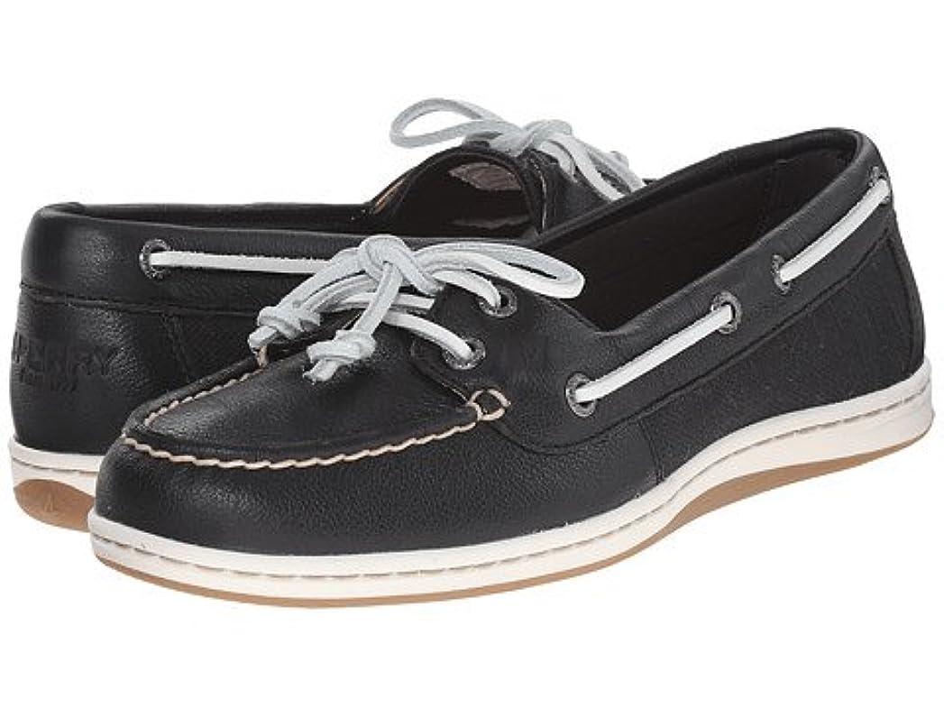 実行縞模様のモジュール(スペリートップサイダー) SPERRY TOPSIDER レディーススリッポン?ボートシューズ?靴 Firefish Core Black/White 9.5 26.5cm M (B) [並行輸入品]