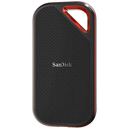SanDisk Extreme PRO Portable SSD externe Festplatte 500GB (bis zu 1050 MB/Sek., USB-C, robust und wasserbeständig) (Generalüberholt)