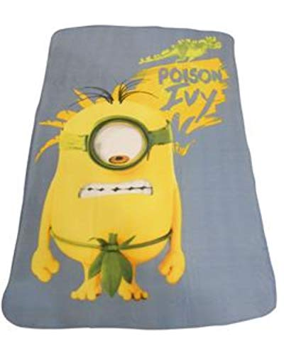 Official Minions Poison Ivy Fleece Blanket by England Rugby