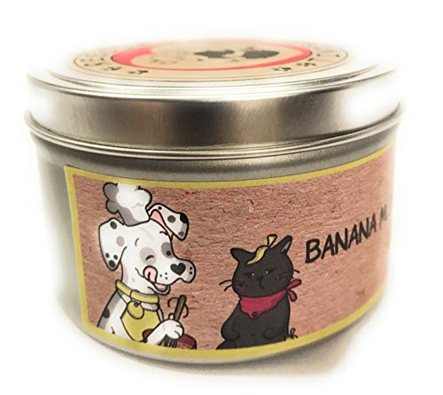 RESCUE TINS Candles 100% Soy Wax Triple Scented Hand Poured in The USA (Banana Nut Bread, 8 OZ)