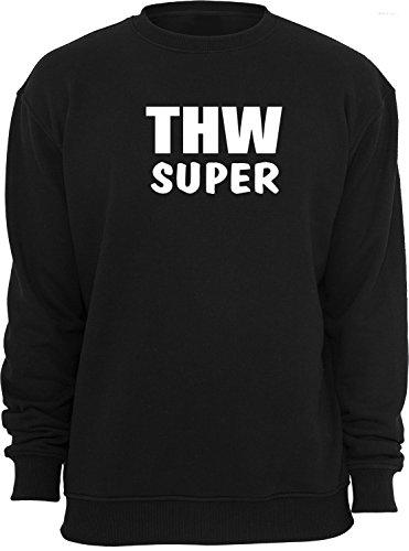 THW Super: Sweatshirt; schwarz; Unisex; 46; Gr. S