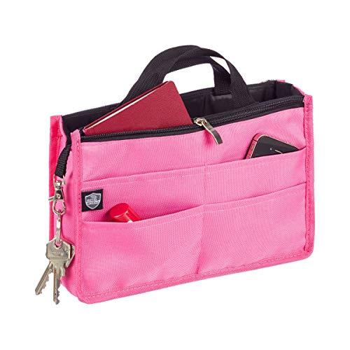 Unbekannt Handtaschenorganizer Datenschutz, Taschenorganizer mit Tragegriff, Reißverschlusstasche & 4 Fächer, Polyester, 26 x 16 x 8 cm