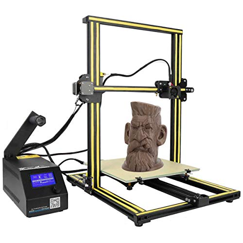 ZIHENGUO Imprimante 3D CR-10, Kits d'impression Bricolage pour débutants avec lit Chauffant, Volume de Construction 300X300X400mm et lit en Verre Chauffant,Orange