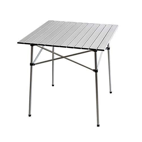 Aluminium Klapptisch 'Ameland' 70x70xH70cm Campingtisch Gartentisch Beistelltisch Falttisch Picknicktisch Alutisch faltbar