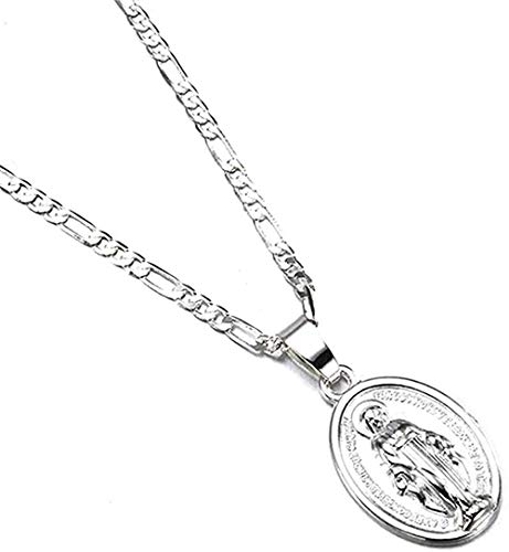 NC188 Necklace Necklace Men Women Gold Catholic Sliver Virgin Mary Pendant Necklace Jewelry Gifts