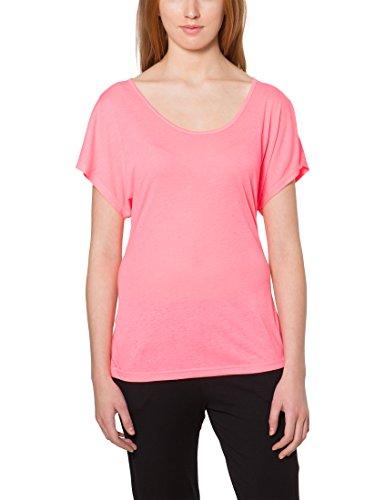 Ultrasport Camiseta de Yoga para Mujer Light Action - Camiseta Suelta de Mujer con Cuello Redondo Camiseta Deportiva de Mujer Holgada con Manga Corta, Rosa, M