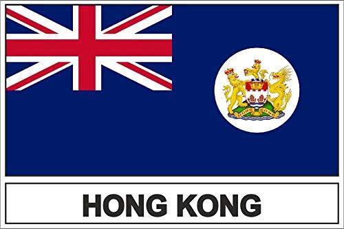 Akachafactory Sticker Aufkleber Flaggen Flagge Fahne HK Hong Kong r2