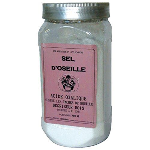 Ácido oxálico o sal de rumex 700gr blanchissant madera, Eclats Diffusion metales...