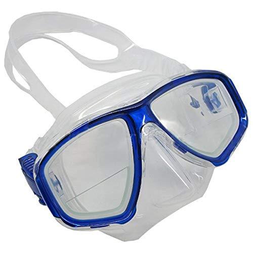 Prime Scuba-Set maschera e boccaglio da immersione blu FARSIGHTED prescrizione RX 1/3 lenti correttive ottico