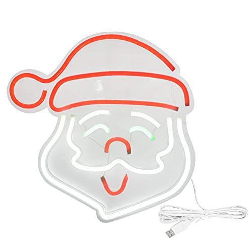 Insegne al Neon di Babbo Natale, Luci al Neon a LED 13,8 X 13,4 Pollici Segnale da Parete USB Facile da Posizionare Basso Consumo Energetico per Bar, Negozi, Club, Garage, Camere da Letto Familiari