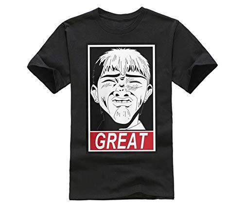 SHINAN GTO Great Teacher Onizuka Great Purified T-Shirt Graphic Top Printed Shirt Short-Sleeve Tee Mens Black L