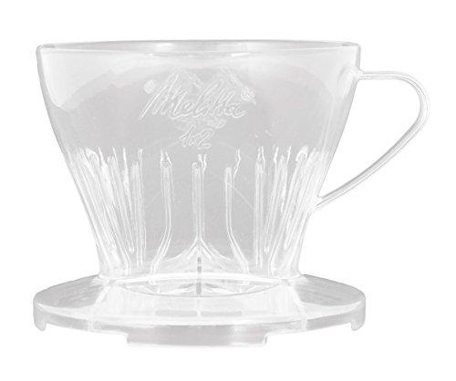 Melitta Kaffeehalter mit Kaffeemesslöffel, Kaffeefilter 1x2 Premium, Kunststoff, Transparent, 217588