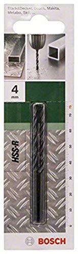 Bosch Metallbohrer HSS-R rollgewalzt (2 Stück, Ø 4 mm)